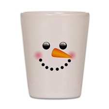 Snowman Face Shot Glass
