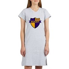 Rugby Shield Purple Gold Women's Nightshirt