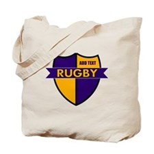 Rugby Shield Purple Gold Tote Bag