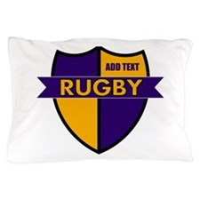 Rugby Shield Purple Gold Pillow Case
