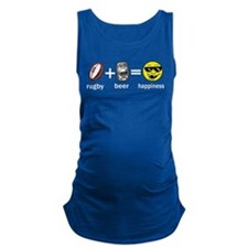 Rugby Plus Beer Equals Happiness Maternity Tank To