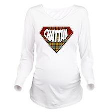 Chattan Superhero Long Sleeve Maternity T-Shirt