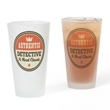 Detective Vintage Drinking Glass