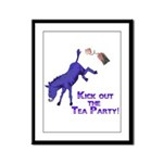kick-out-tea-party Framed Panel Print