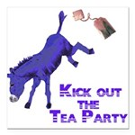 kick-out-tea-party Square Car Magnet 3