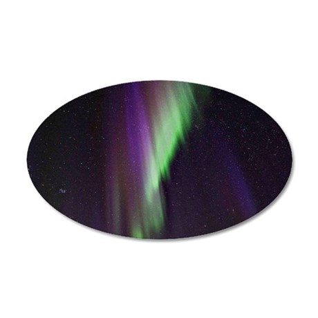 Northern Lights, Aurora bore 35x21 Oval Wall Decal