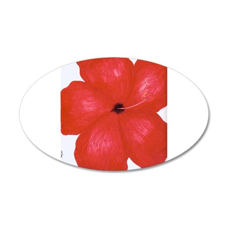 Sharma's Red Hibiscus #1 Wall Decal