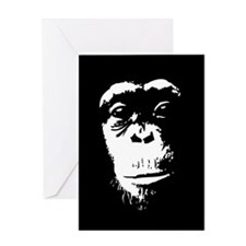chimp1b-TIL.png Greeting Cards