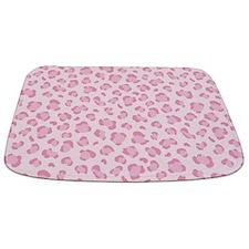 Pink Leopard Spot Print Bathmat