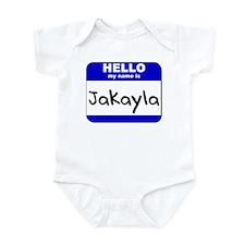 hello my name is jakayla  Infant Bodysuit