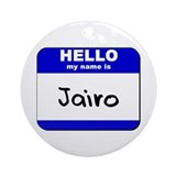 hello my name is jairo  Ornament (Round)