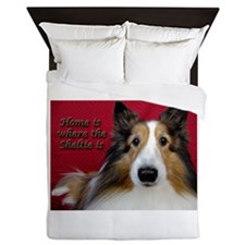 Home Is Where The Sheltie Is Queen Duvet