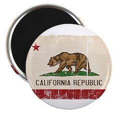 California Flag Distressed Magnet