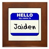 hello my name is jaiden  Framed Tile