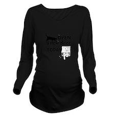 Open New Door Today Long Sleeve Maternity T-Shirt