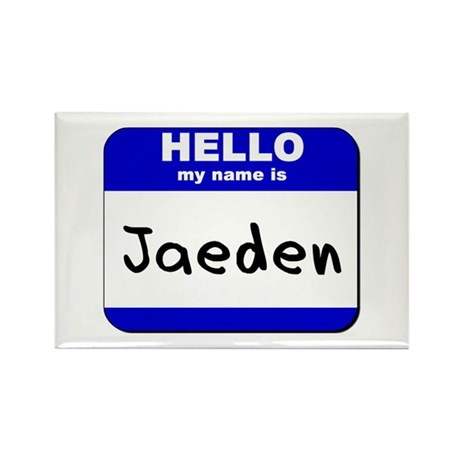 hello my name is jaeden Rectangle Magnet