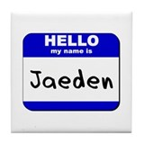 hello my name is jaeden  Tile Coaster