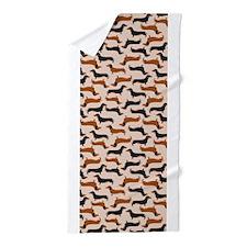 Dachshund Tan Beach Towel