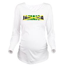 Jamaica Logo Long Sleeve Maternity T-Shirt