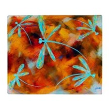 Dragonfly Desert Flit Throw Blanket