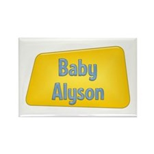 Baby Alyson Rectangle Magnet