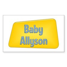 Baby Allyson Rectangle Decal