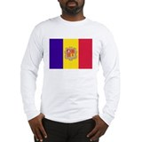 Andorra Flag T Shirts Long Sleeve T-Shirt