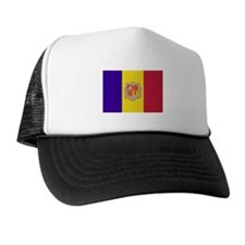 Andorra Flag T Shirts Trucker Hat