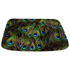 Peacock Feathers Invasion Bathmat