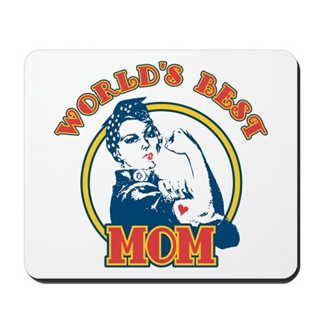 Rosie Riveter Best Mom Mousepad