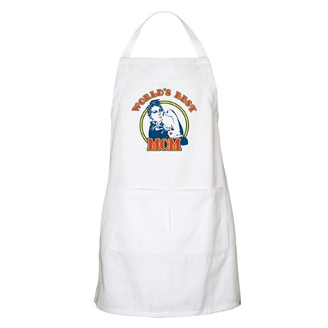 Rosie Riveter Best Mom BBQ Apron