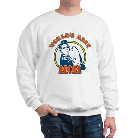Rosie Riveter Best Mom Sweatshirt