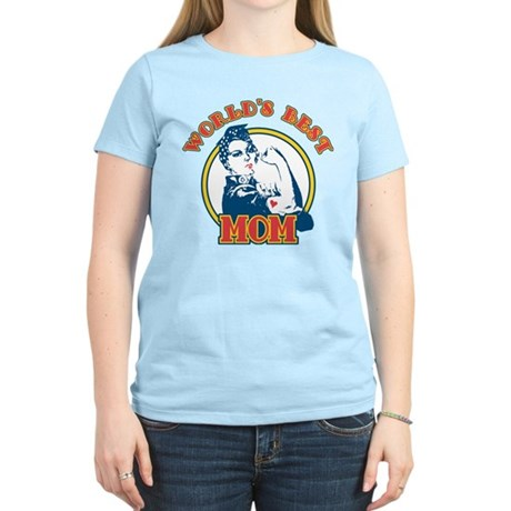 Rosie Riveter Best Mom Women's Light T-Shirt