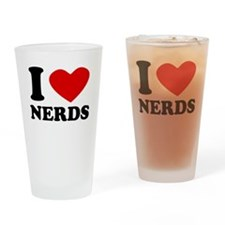 I Heart Nerds Drinking Glass