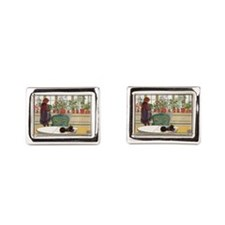 Flowers on the Windowsill by Carl Larsso Cufflinks