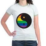 YIN YANG SYMBOL - RAINBOW Jr. Ringer T-Shirt