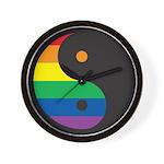 YIN YANG SYMBOL - RAINBOW Wall Clock