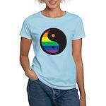YIN YANG SYMBOL - RAINBOW Women's Light T-Shirt