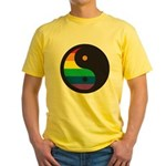 YIN YANG SYMBOL - RAINBOW Yellow T-Shirt