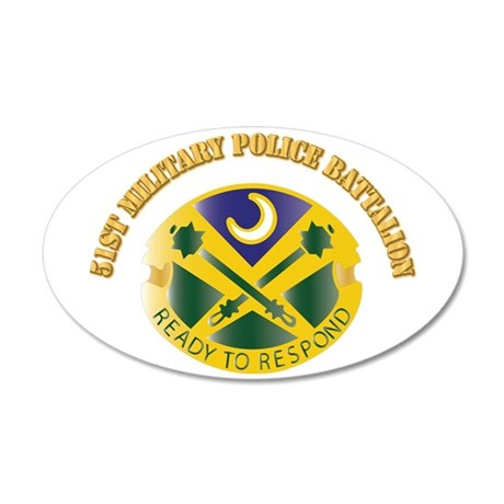 DUI - 51st Military Police Battalion with Text 35x