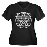 """Wiccan Rede"" Women's Plus Size V-Neck Dark T-Shir"