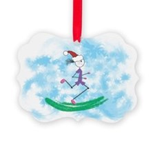 Christmas Holiday Lady Runner Ornament