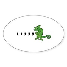 Comma Chameleon Decal