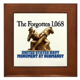 Normandy Navy Monument Framed Tile