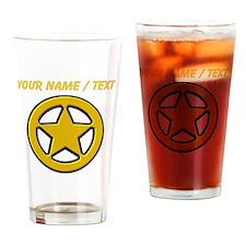 Sherriff Badge Drinking Glass