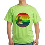 JESUS LOVE ME Green T-Shirt