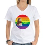 JESUS LOVE ME Women's V-Neck T-Shirt