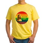 JESUS LOVE ME Yellow T-Shirt