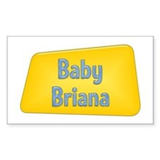 Baby Briana Rectangle Decal