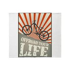 Funny Mountain bike Throw Blanket
